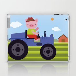 Pig on Tractor Laptop & iPad Skin