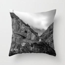 Schöllenen Gorge, Switzerland Throw Pillow