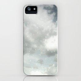 Snowing Winter Scene Illustration #decor #society6 iPhone Case