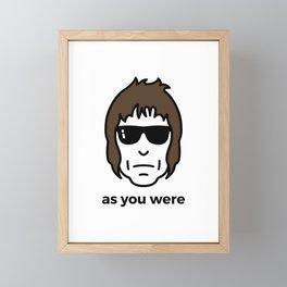 As You Were Framed Mini Art Print