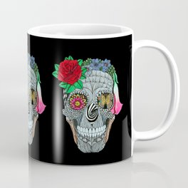 Lady Skull ready to party Coffee Mug