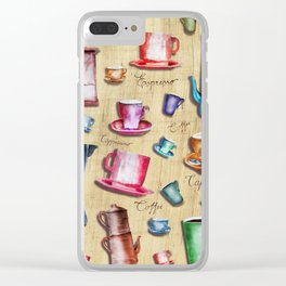 Coffee time! 2.0 Clear iPhone Case
