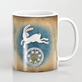 Rabbit with dandelion Coffee Mug