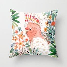 BOOFUS the Major Mitchell's Cockatoo Throw Pillow