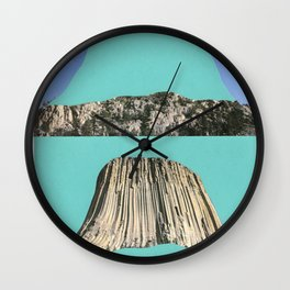 Cave, reverse cave. Wall Clock