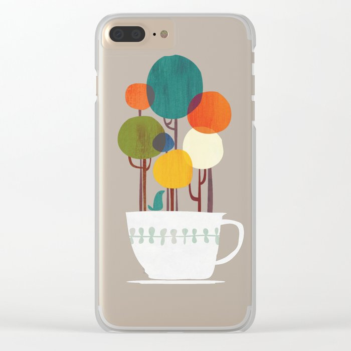 Life in a cup Clear iPhone Case