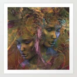 DOUBLE FACES OF EVE 002 Art Print