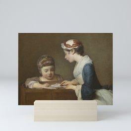 Jean-Baptiste-Simeon Chardin - The Little Schoolmistress Mini Art Print