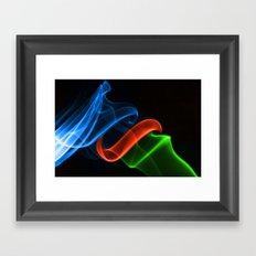 Smoking Colors Framed Art Print