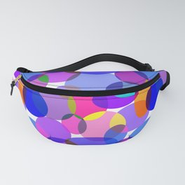 Pink and Purple Toned Layered Circles! Fanny Pack