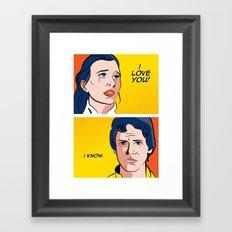 The Goodbye Framed Art Print