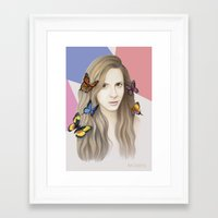 karen Framed Art Prints featuring Karen by Anya Timofeeva