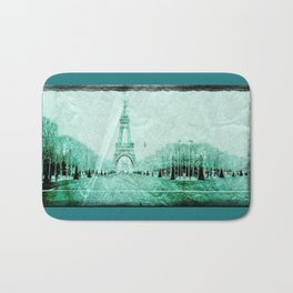 Vintage Paris - Teal Bath Mat