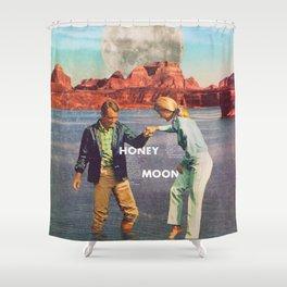 Honey, moon. Shower Curtain