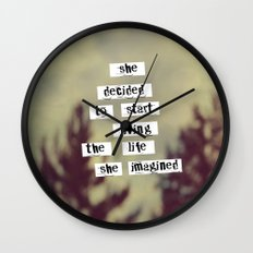 Her Life Wall Clock