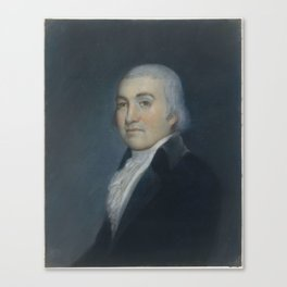 Noah Webster , Attributed to James Sharples (ca. 1751–1811) Canvas Print