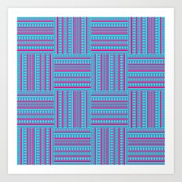 Lines and dots Art Print
