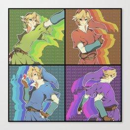 Legend of Zelda: 4 Swords adult Links Canvas Print