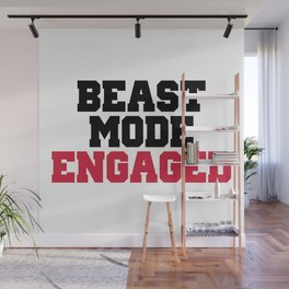 Beast Mode Engaged Gym Quote Wall Mural