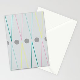 Soft triangles Stationery Cards