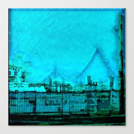 Ice Blue Bay Photo Edit Canvas Print