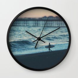 the lone surfer ... Wall Clock