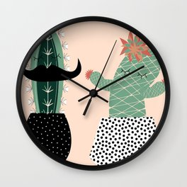 Mr. and Mrs Succulent Wall Clock