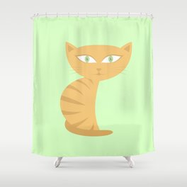 Mysterious Cat Shower Curtain
