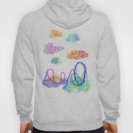 We'll see you in style, riding rainbow roller-coasters in the sky. Hoody