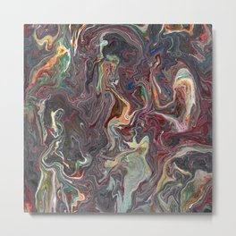 Abstract Oil Painting 22 Metal Print