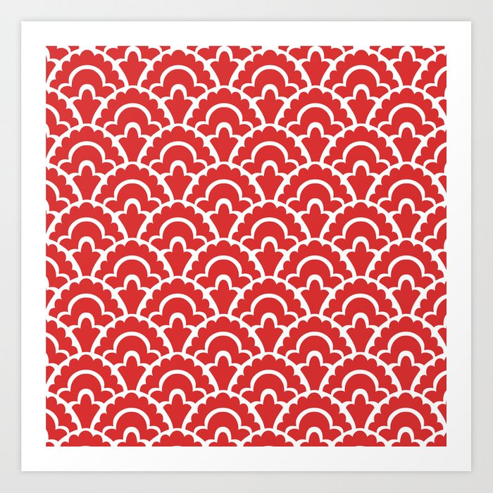 Fan Pattern Red 118 Kunstdrucke
