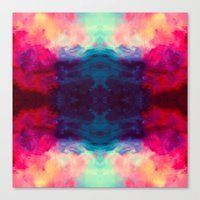 reassurance Canvas Prints featuring Reassurance Rorschach  by Caleb Troy
