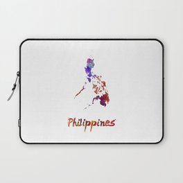Philippines  in watercolor Laptop Sleeve