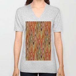 Zigzag Orange Unisex V-Neck