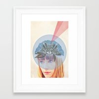 crown Framed Art Prints featuring Crown by Adelle Rae