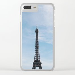 Blue Skies in Paris Clear iPhone Case