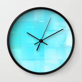 Frosted Windows Wall Clock