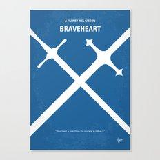 No507 My Braveheart minimal movie poster Canvas Print