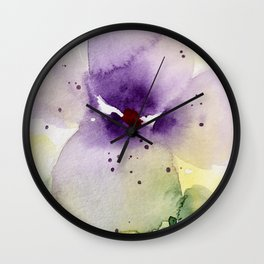 pansy Wall Clock