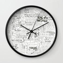 Dear Diary... Wall Clock