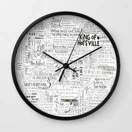 Dear Diary... Wall Clock