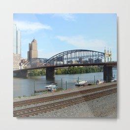 Pittsburgh Bridges Metal Print
