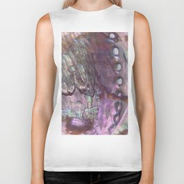 Shimmery Lavender Abalone Mother of Pearl Biker Tank