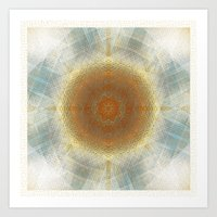 Trendy digital mandala Art Print