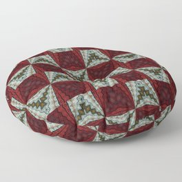 Tribal Pattern Red and White Floor Pillow
