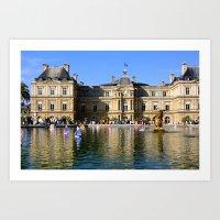 Little Yachts - Jardin du Luxembourg - Paris Art Print