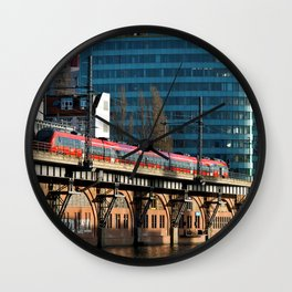 RED TRAIN - BERLIN Wall Clock