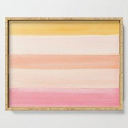 Peach Watercolor Sunrise Serving Tray