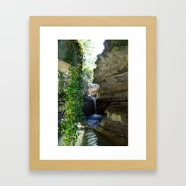 la cascata urlante Framed Art Print