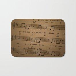 Music Tabs Bath Mat